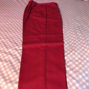 Red dress slack